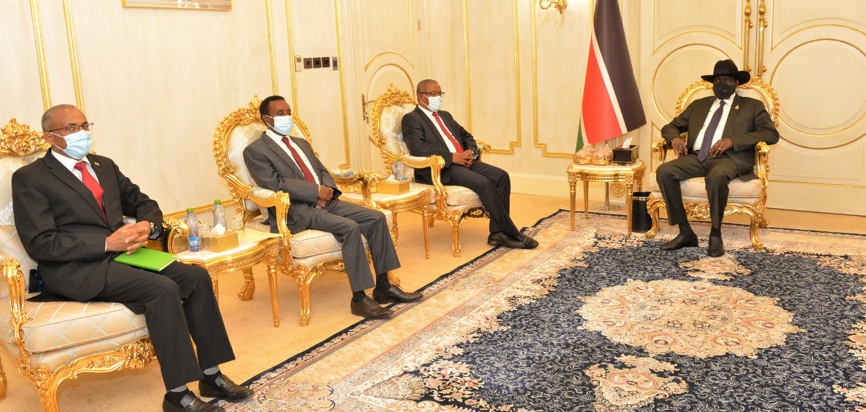 President Kiir meets Ethiopian Security Delegate over the Ethiopian Crisis