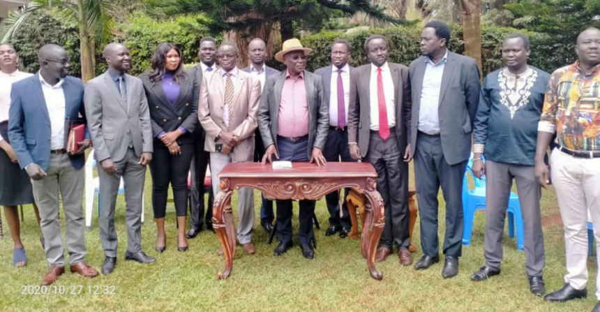 Former Chief of Staff and leader of SSUF/A, Gen. Paul Malong and his group launching a new manifesto in Nairobi, Kenya, on Oct 27, 2020(Photo credit: courtesy image/SSUF/A sources)