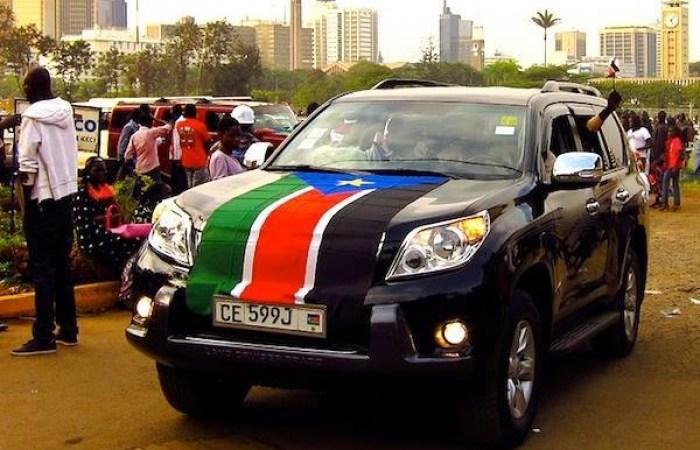 A vehicle belonging to South Sudanese spotted in East Africa(Photo credit: courtesy image/file)
