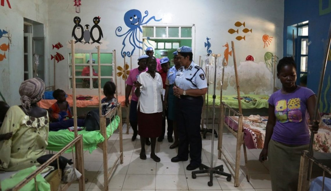 Members of UN Police at Juba Teaching hospital in the past(Photo: file)