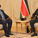 Vice President for Service Delivery Cluster, H.E. Hussein Abdelbagi briefing president Kiir on his recent visit to Khartoum, Sudan(Photo credit: courtesy image/Nyamilepedia)