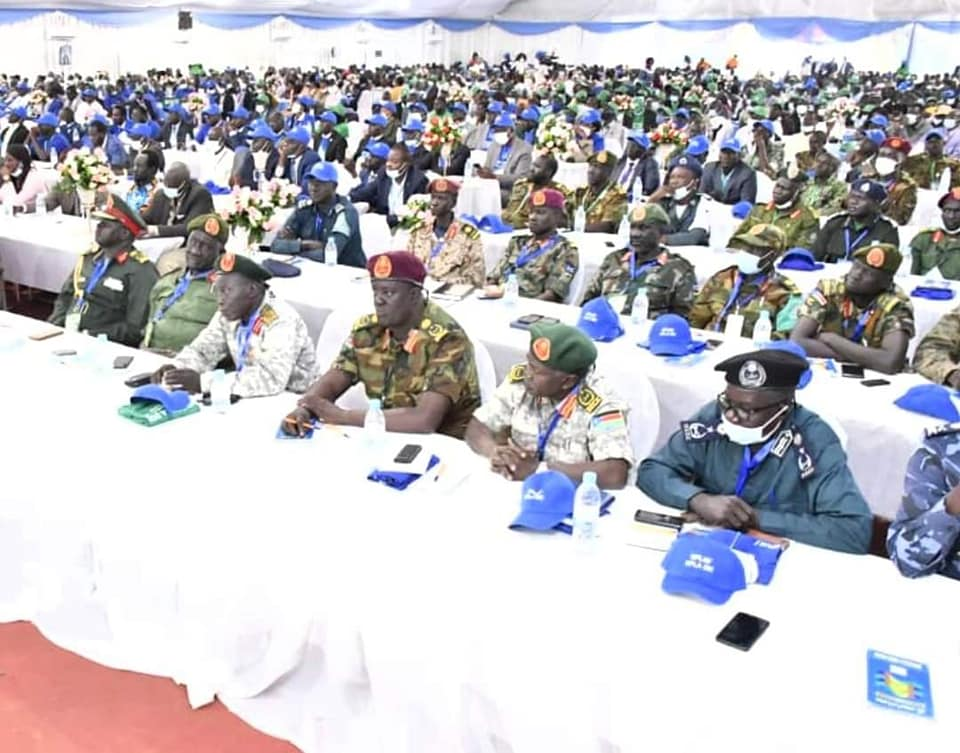 Members of the main armed opposition, SPLM/A-IO attending the sixth party convention in Juba. The conference is expected to run between December 1 to December 5(Photo credit: courtesy image/Nyamilepedia)