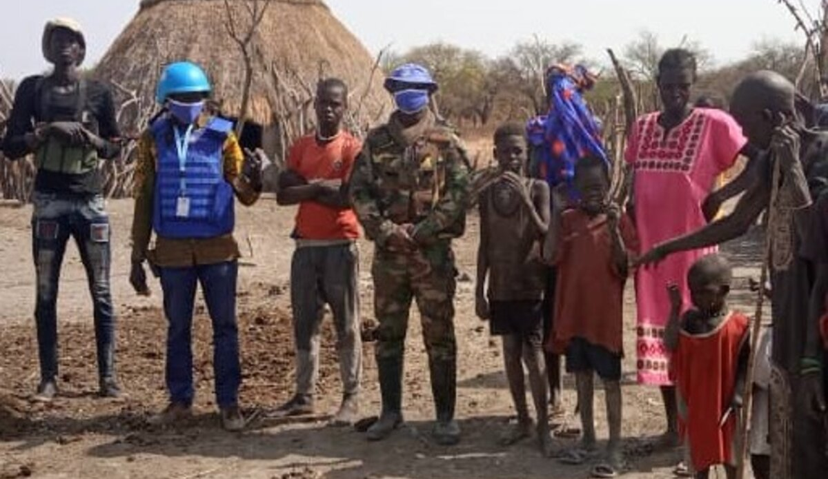 Members of the Ghanian UN Peacekeepers in Jahjah, Koch county, Unity State(Photo credit: supplied)
