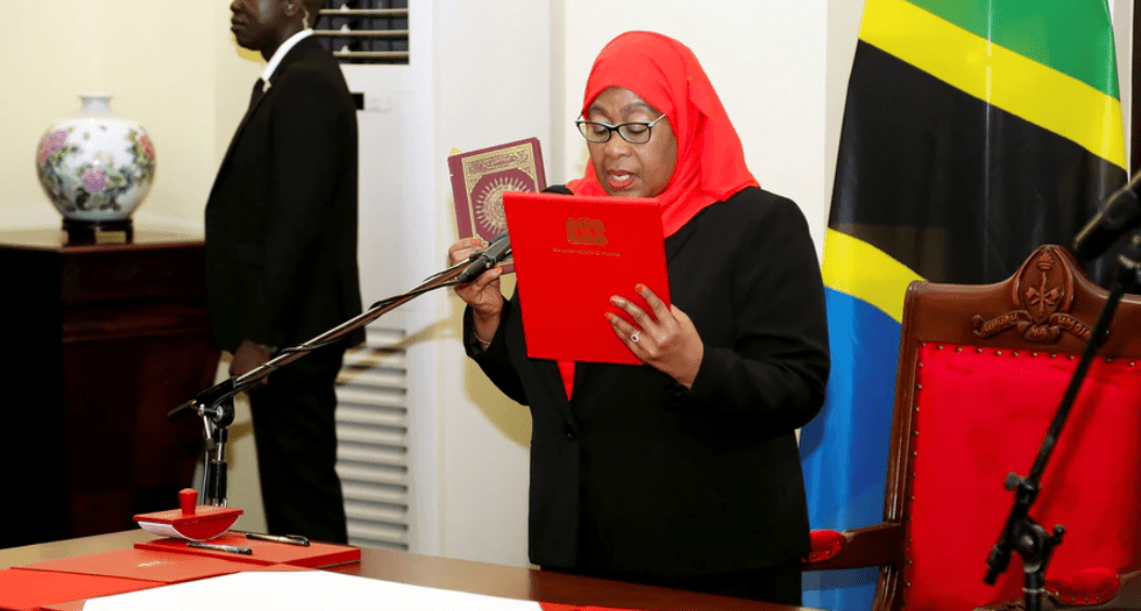 Samia Suluhu Hassan, Tanzania's first woman President sworn in on Friday, March 19, 2021(Photo credit: courtesy image)