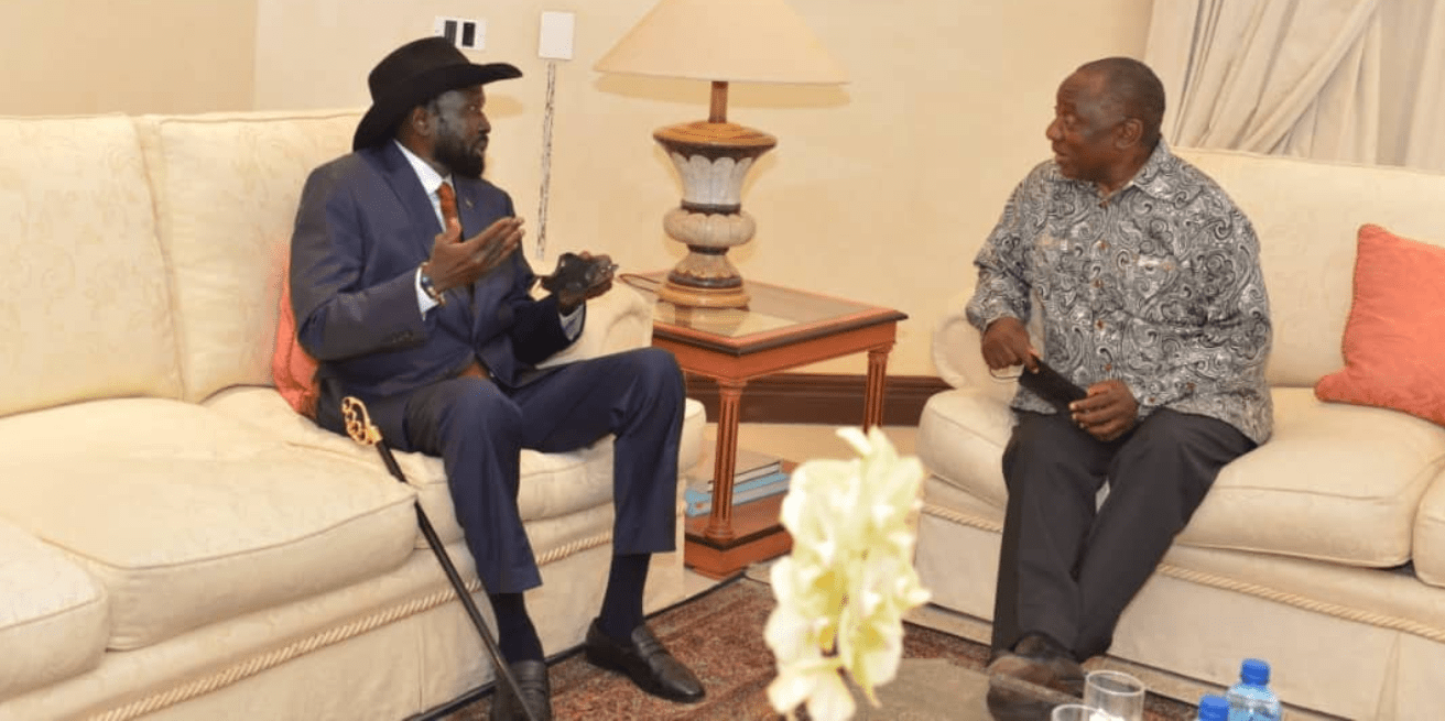 South Sudan president arrives in South Africa, holds talks with President Ramaphosa