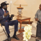 South Sudan President, Salva Kiir Mayardit and South African President Cyril Ramaphosa meeting in Pretoria, South Africa, April 17, 2021(Photo credit: courtesy image/Nyamilepedia)