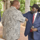 President Salva Kiir meeting South African President Cyril Ramaphosa at his residence in Pretoria on April 17, 2021 for the first time since he arrived on April 15(Photo credit: courtesy image/Nyamilepedia)