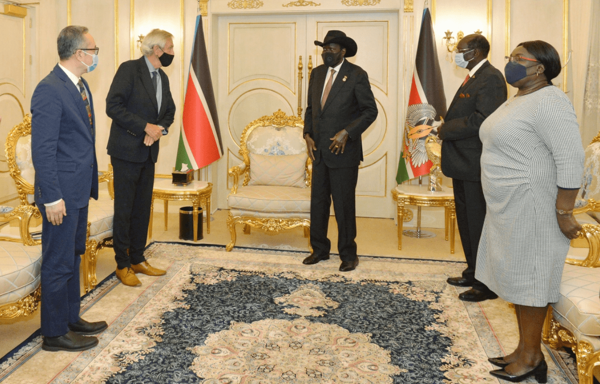 President Kiir welcomes a new head of UNMISS, Nicholas Haysom