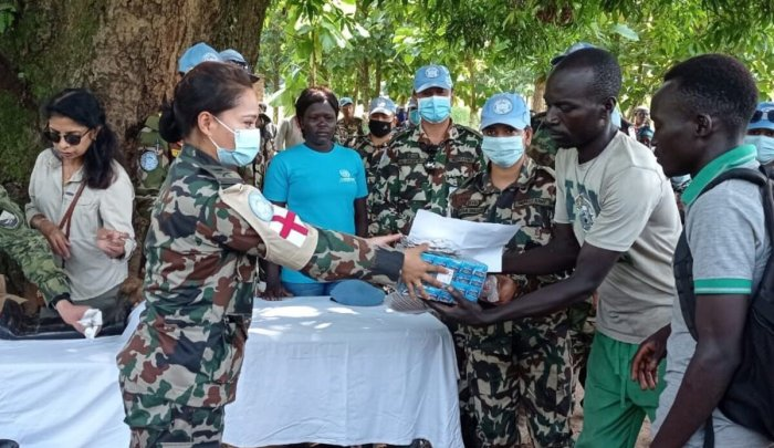 Relief for Lasu residents as UN Peacekeepers offer lifeline support