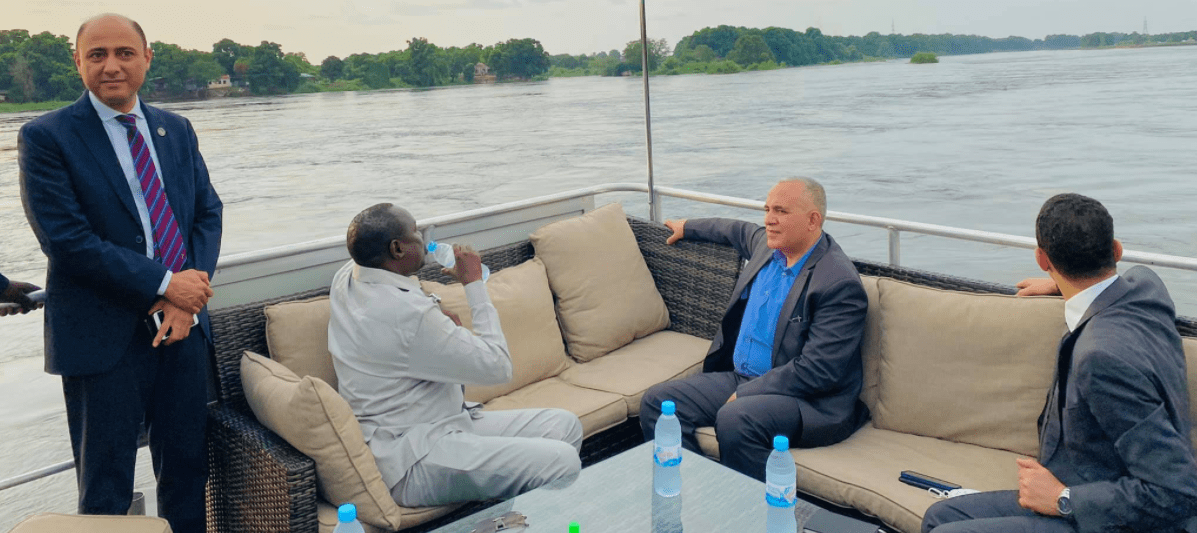 Ministers of Water Resources and Irrigation, Manawa Peter Gatkuoth of South Sudan and his counterpart, ,Mohammed Abdel Atty meeting on June 24th, 2021(Photo credit: courtesy image)