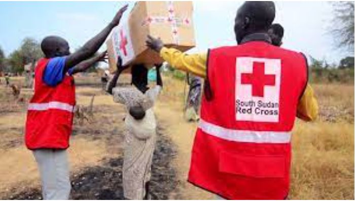Staff of South Sudan Red Cross Society delivering services in remote areas in South Sudan(Photo credit: societies of red cross/Nyamilepedia)