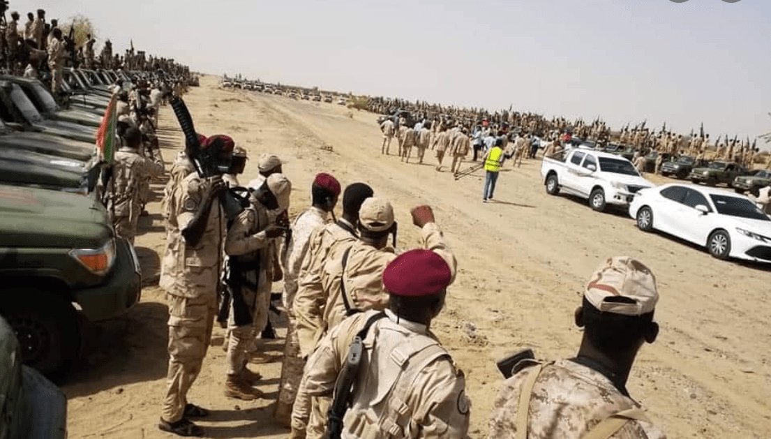 Sudanese armed forces parading at the frontline at undisclosed location in Sudan(Photo credit: file)