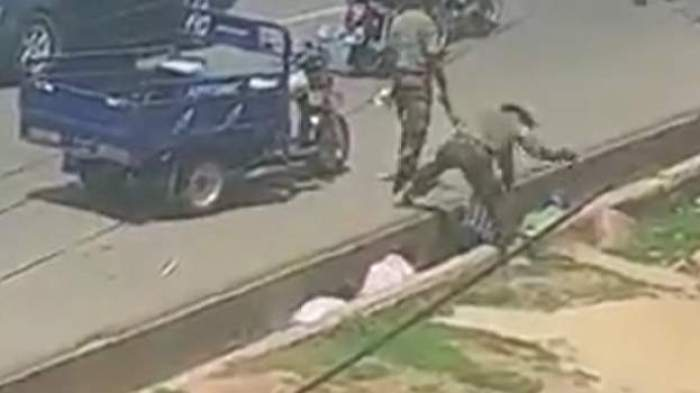 Outrage as soldiers chase and randomly beat civilians over missing cell phone
