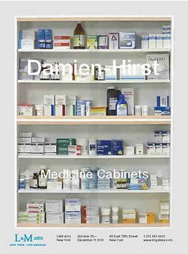 NYAB Event  Damien Hirst Medicine Cabinets
