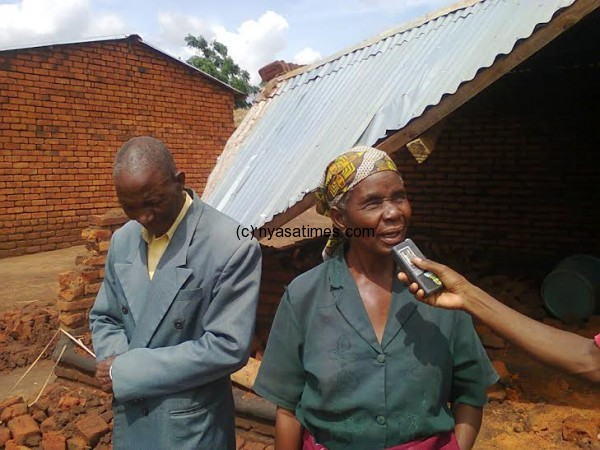 One of the victims, a blind woman who has lost a home built for her by her children