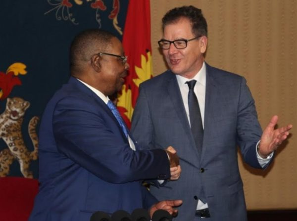 Mutharika and Müller during the meeting