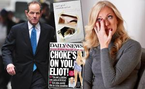 Rebecca Woodard (right) Eliot Spitzer (left)