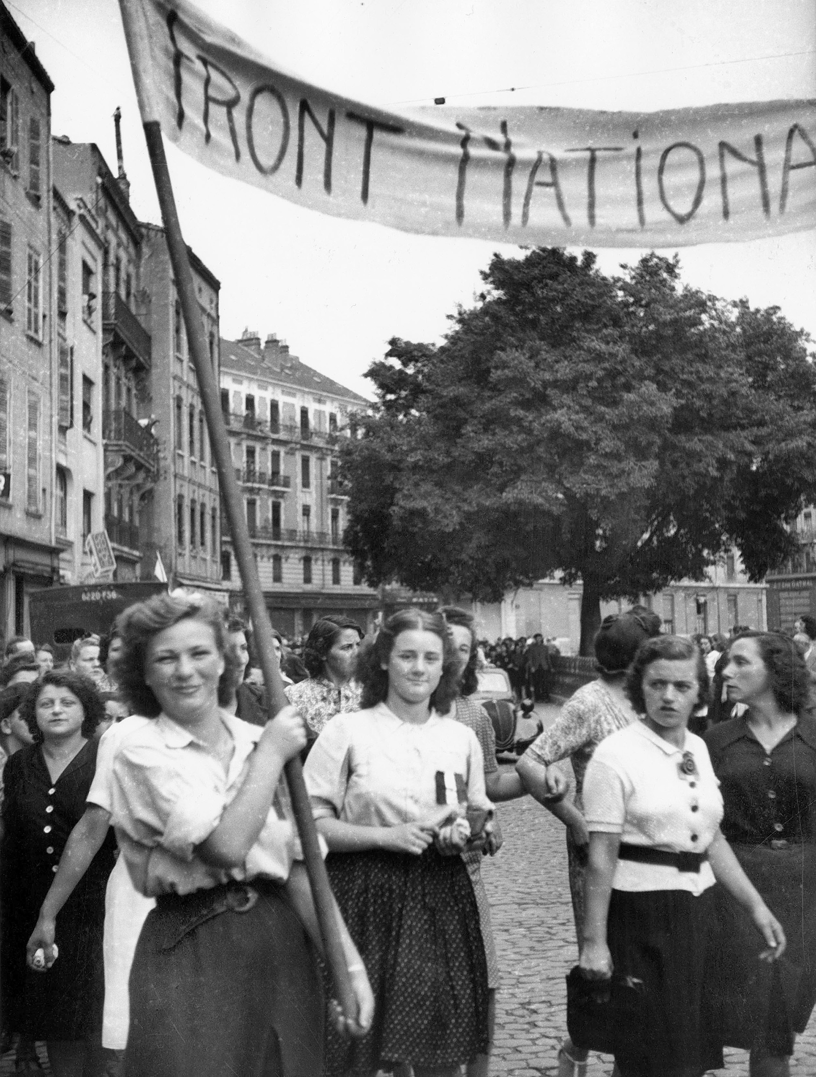 Women of the National Front, a resistance organization started by members of the Communist Party in 1941, celebrating the liberation of Toulouse, August 21, 1944