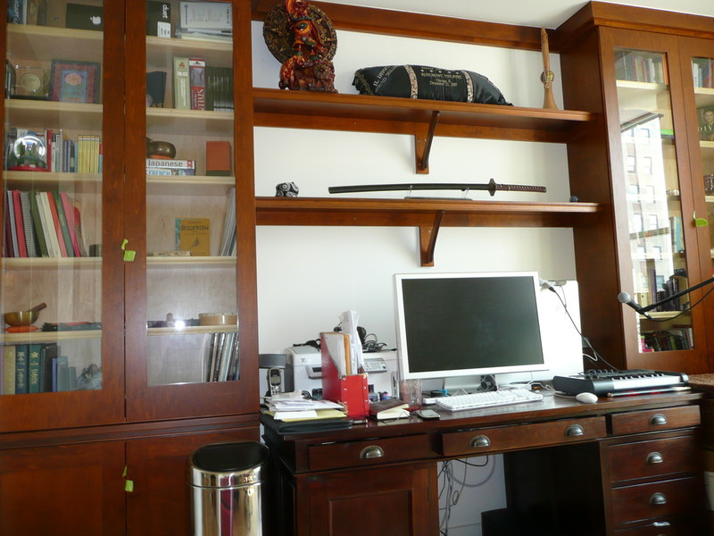 NYC Custom Home  Business Office Desks Bookcases Bookshelves  Filing Cabinets Built New York