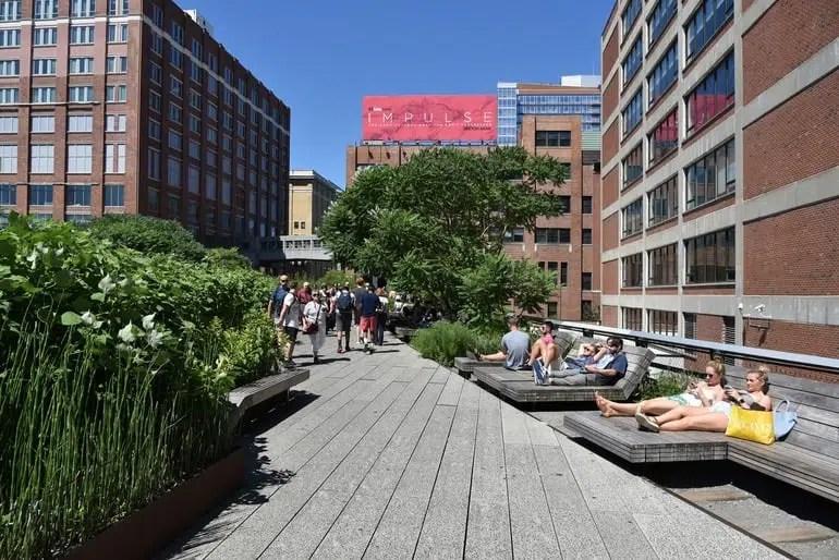 repos sur la High Line