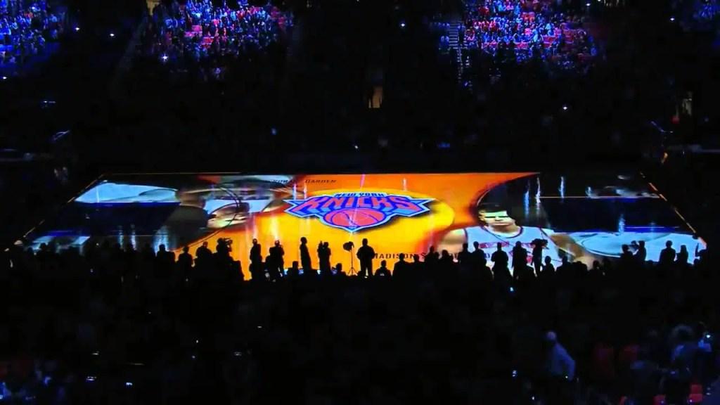 Match de basketball à New York