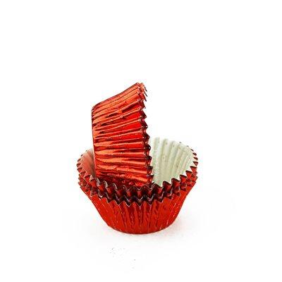 Red Foil Mini Cupcake Baking Cup Liner