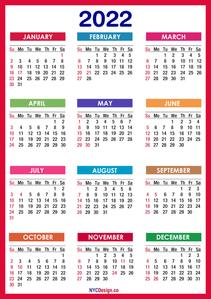 These planner templates on this. 2022 Calendars - NYCDesign.co | Calendars Printable Free