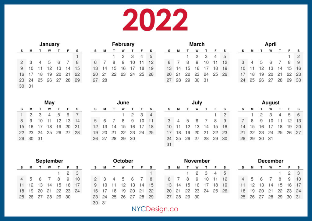 2022 Calendar - Page 4 - NYCDesign.co | Calendars ...