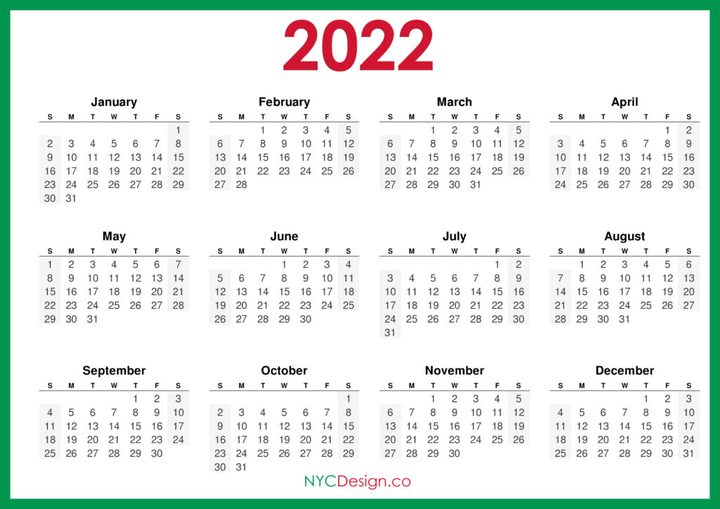 From bunting to envelopes to holiday shapes, there's something for every project. 2022 Calendar - Page 4 - NYCDesign.co   Calendars ...