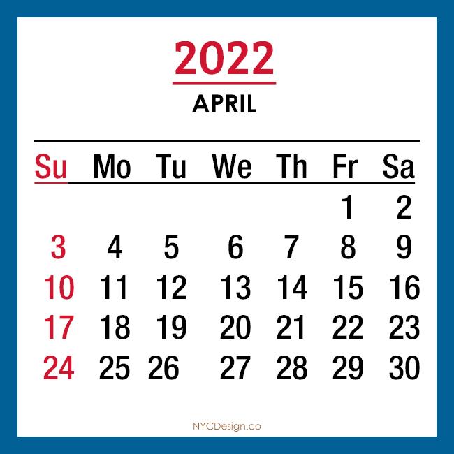 2022 Monthly Calendar with USA Holidays, Printable Free ...