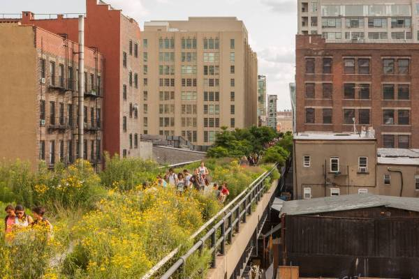 High Line Park New York Map