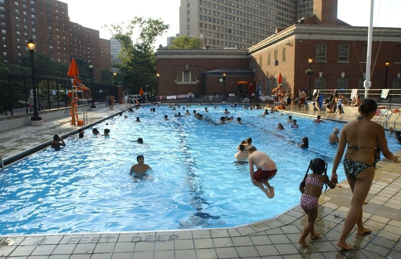 Asser Levy Playground Outdoor Pools  NYC Parks