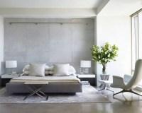 Modern gray bedroom - NYC Interior Design