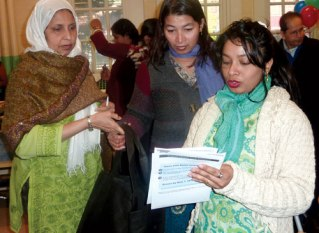 COMMUNITY OUTREACH: With our funding, an organizer helped others properly fill out the census in 2010.