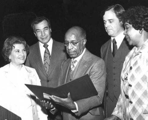 Dr. Dumpson with now Congresswoman Maloney and Congressman Badillo.
