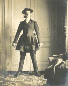 Annie Tinker in riding gear