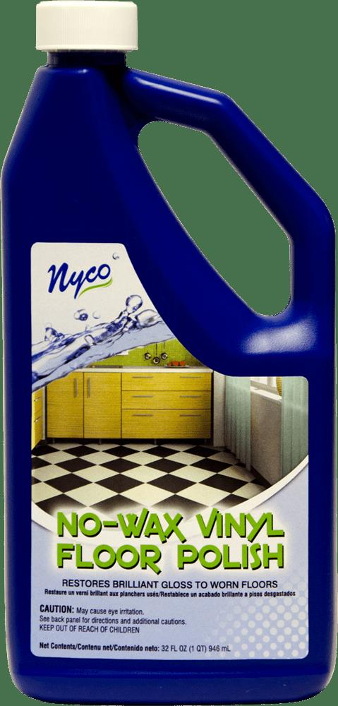 No Wax Vinyl Floor Polish Clear Gloss Formula  NL90411  Nyco