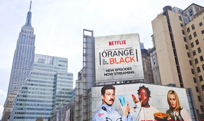 netflix billboard over manhattan