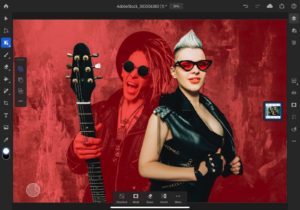 adobe stock image punk woman with red glasses