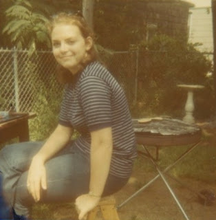 My mom, the style icon: t-shirt and jeans