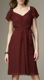 Cranberry and cap sleeves