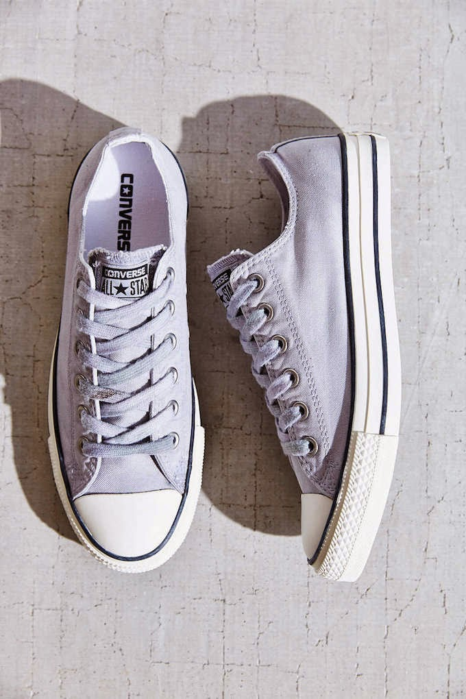 My latest obsession: gray Converse NYC Recessionista