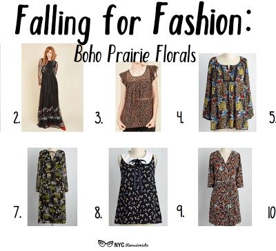 Falling for Fashion: Boho Prairie Florals