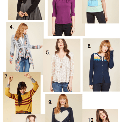 Modcloth's 12 Days of Deals – 25 percent off sweaters and tops