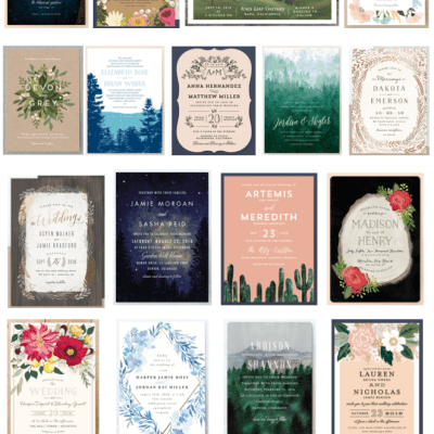 These gorgeous Minted wedding invitations are on sale right now