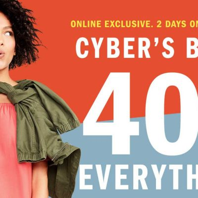 SALE ALERT: 40 percent off everything at Old Navy