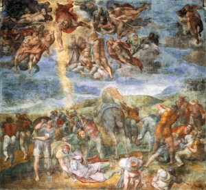 """Jesus' disciple Paul was a critic of gnostic trends in the early church.""""Conversion of Saul,""""  Michelangelo, 1542-1545, Cappella Paolina, Palazzi Pontifici, Vatican"""