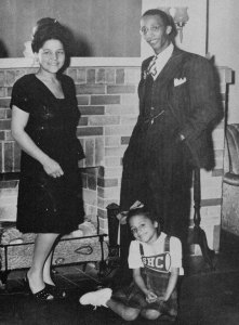 Rev Karl Downs, wife Marian & Karleen in the early 1940s.