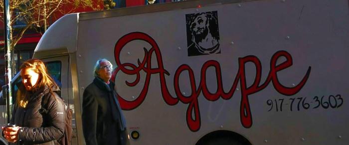 Agape Truck (God's Love Truck) on Bedford Avenue Williamsburg