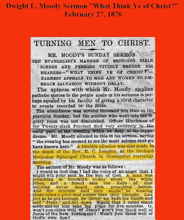 Moody Sermon